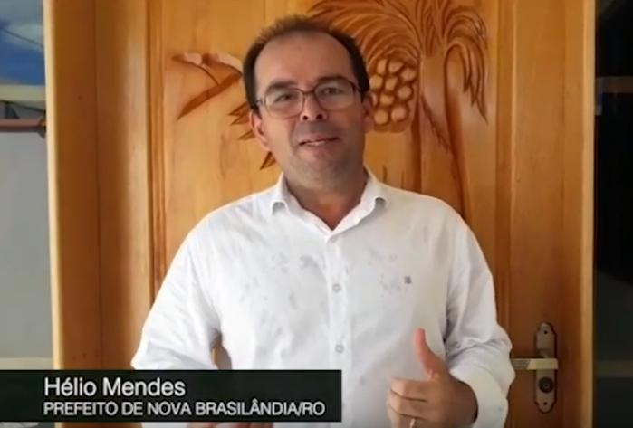 Mensagem do prefeito de Nova Brasilândia do Oeste, Hélio Mendes