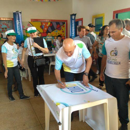 """Confúcio Moura inaugura o projeto """"Pacto Pela Aprendizagem"""""""