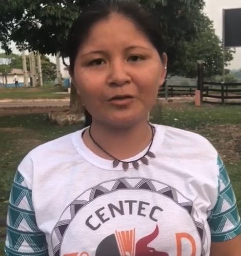 "Elizonete Wuajuru da aldeia ""Baía das Onças"", município de Guajará-Mirim."
