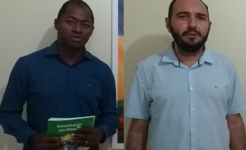 Mensagens dos prefeitos Marcicrênio da Silva Ferreira, de São Felipe do Oeste, e Professor Claudionor Leme, de Nova Mamoré