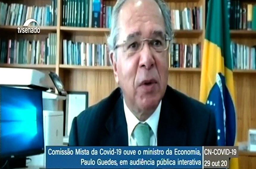Guedes fala em covid-19 'indo embora' e tendência de redução de programas emergenciais