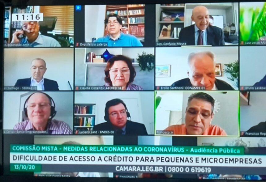Comissão da Covid-19, com apoio do Sebrae, irá buscar projetos para atender os microempreendedores, afirma Confúcio